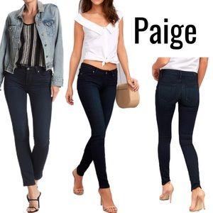 PAIGE Verdugo Dark Wash Blue Skinny Jeans size 27